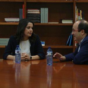 Reunió entre Miquel Iceta i Inés Arrimadas / ACN