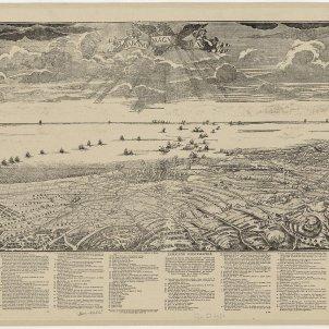 Batalla de Santa Madrona. Representació del setge de Barcelona. Font Arxiu Historic de Barcelona