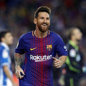 Leo Messi celebracio gol Espanyol Barça Camp Nou   EFE
