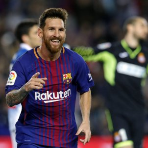 Leo Messi gol Barça Espanyol Lliga Santander Camp Nou   EFE