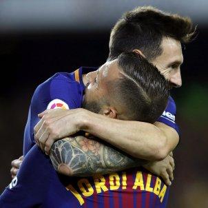 Leo Messi jordi Alba Barça Espanyol - EFE