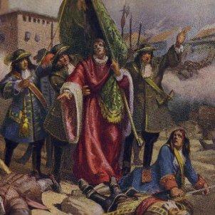 Representació contemporània de Casanova i de Carrasclet. Font Museu d'Història de Sant Boi i Arxiu d'ElNacional