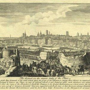 Assalt borbònic a Barcelona. Font Viquipèdia