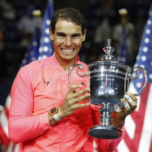 Rafa Nadal US Open Trofeu Final   EFE