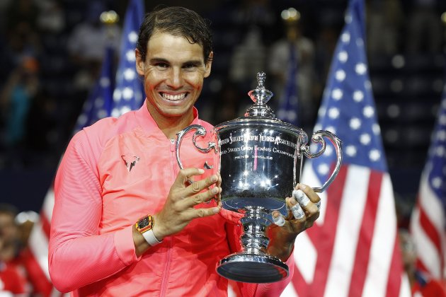 Rafa Nadal US Open Trofeu Final   EFE