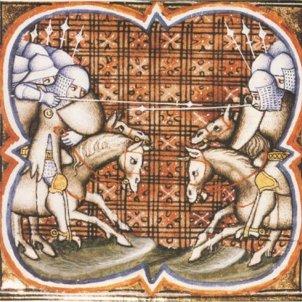 Batalla de Muret. Representació coetània. Font Viquipèdia