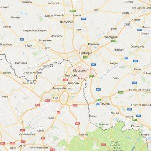 mapa mouscron