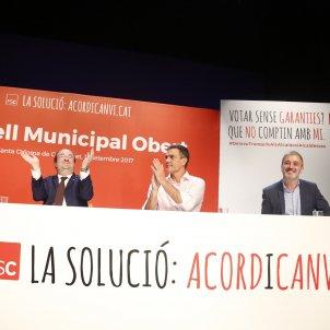 Pedro Sánchez, Miquel Iceta i Jaume Collboni - Sergi Alcàzar