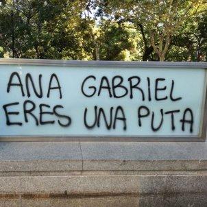 Anna Gabriel insults Universitat València / @gacavi2
