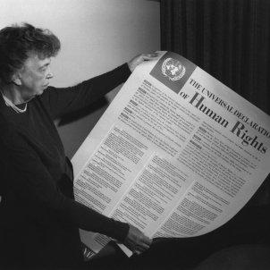 Drets Humans Eleanor Roosevelt amb la declaració
