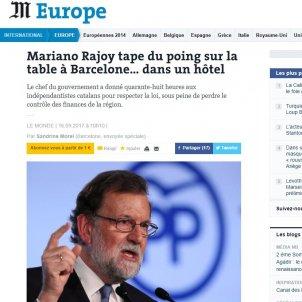 Le Monde Rajoy