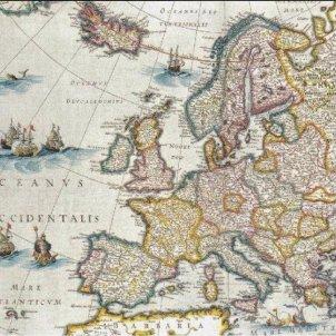 gran Mapa politic d'Europa. Taller de cartografia de Jan Blaeu (1650). Font Arxiu d'ElNacional