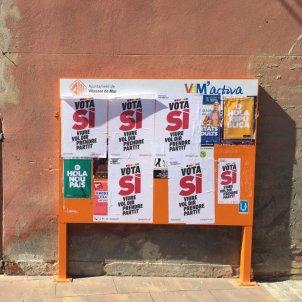 cartells referendum vilassar david gonzalez