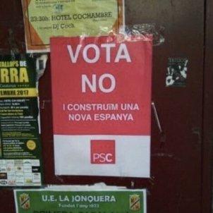 cartells referendum PSC
