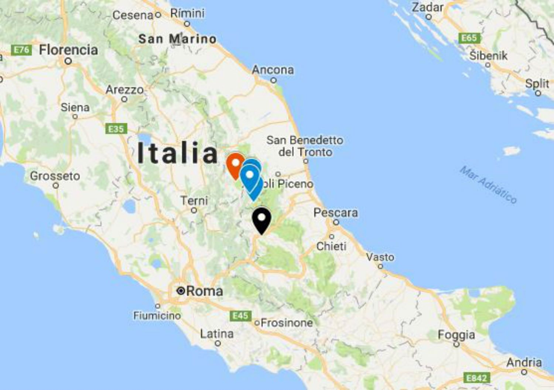 MAPA Qué Pueblos Han Quedado Más Afectados Por El Terremoto - Mapa de italia