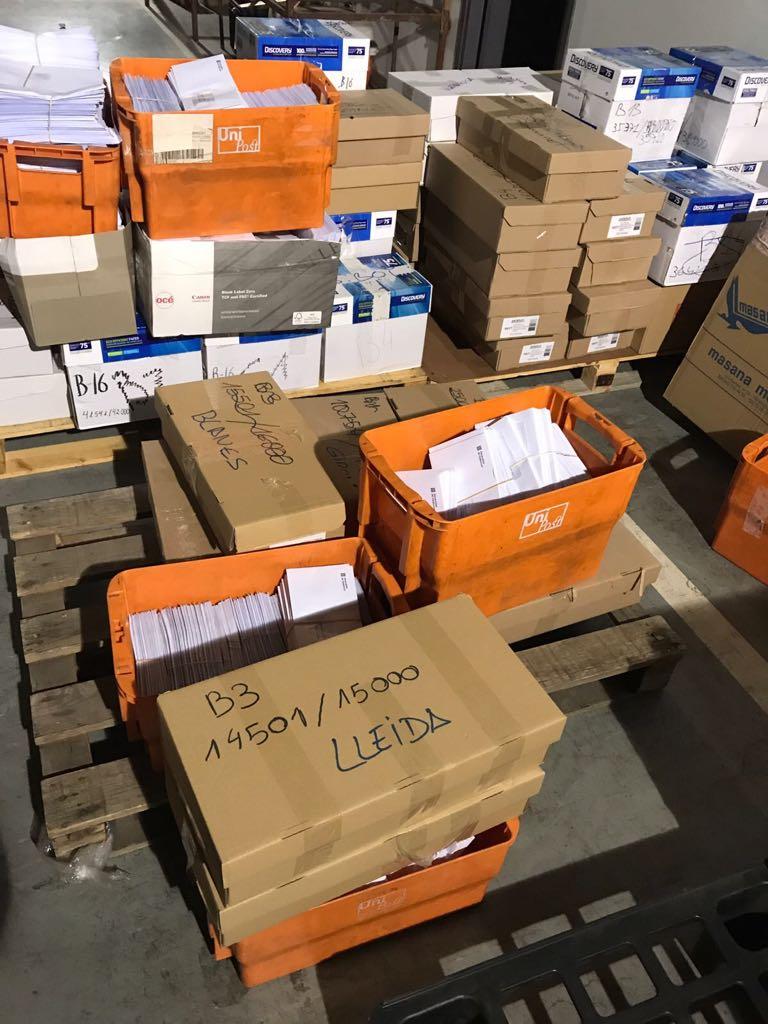 Sobres Confiscats Referendum Guardia Civil