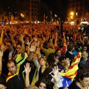 Manifestació Conselleria Economia 20-S 'Octubre' Teresa Solana - Sergi Alcàzar
