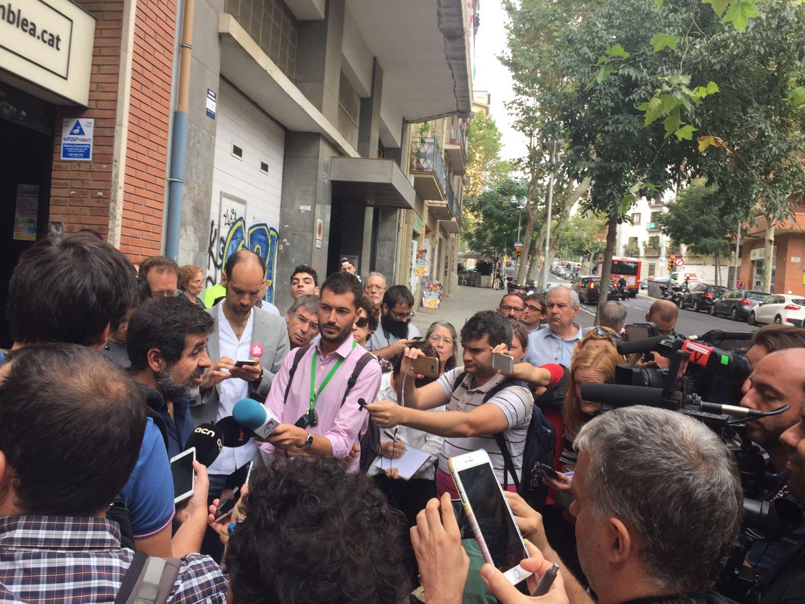 Declaracions Jordi Sànchez a ANC / Carlota Camps