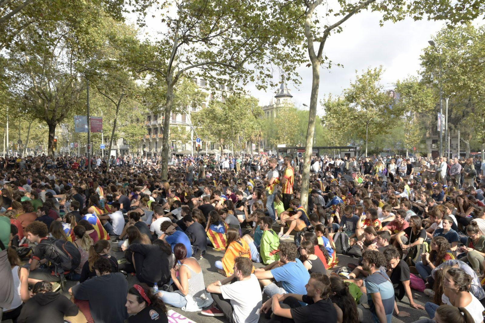 Manifestació a plaça Universitat / Laura Gómez