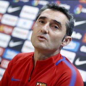 Ernesto Valverde entrenador Barça roda premsa   EFE