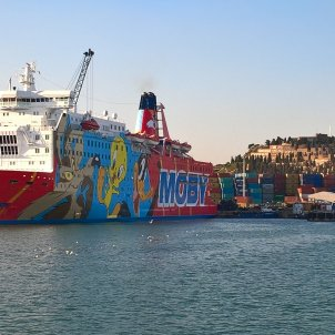 Vaixell Moby Dada atracat al Port de Barcelona - ACN