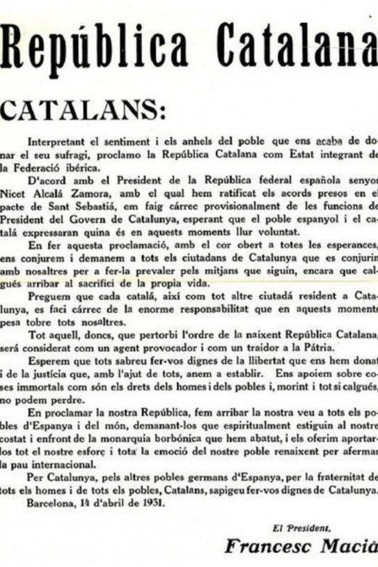Bando de la República catalana Macià. Font Wikimedia commons