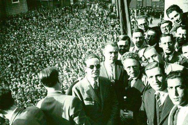 Proclamación de la República catalana. 1934. Fuente Archivo de ElNacional