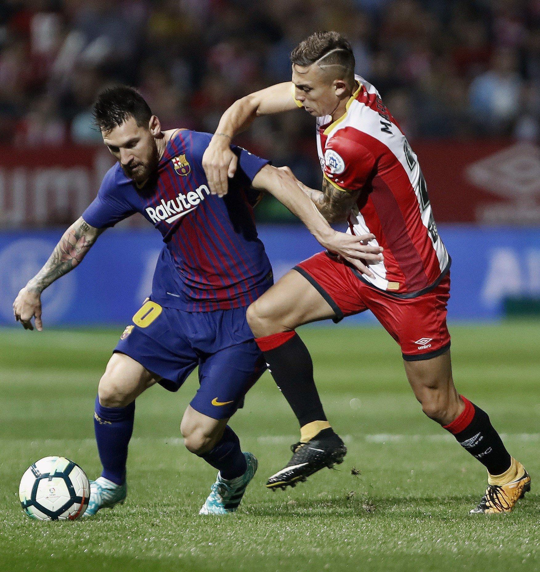 Leo Messi Pablo Maffeo Barça Girona   EFE