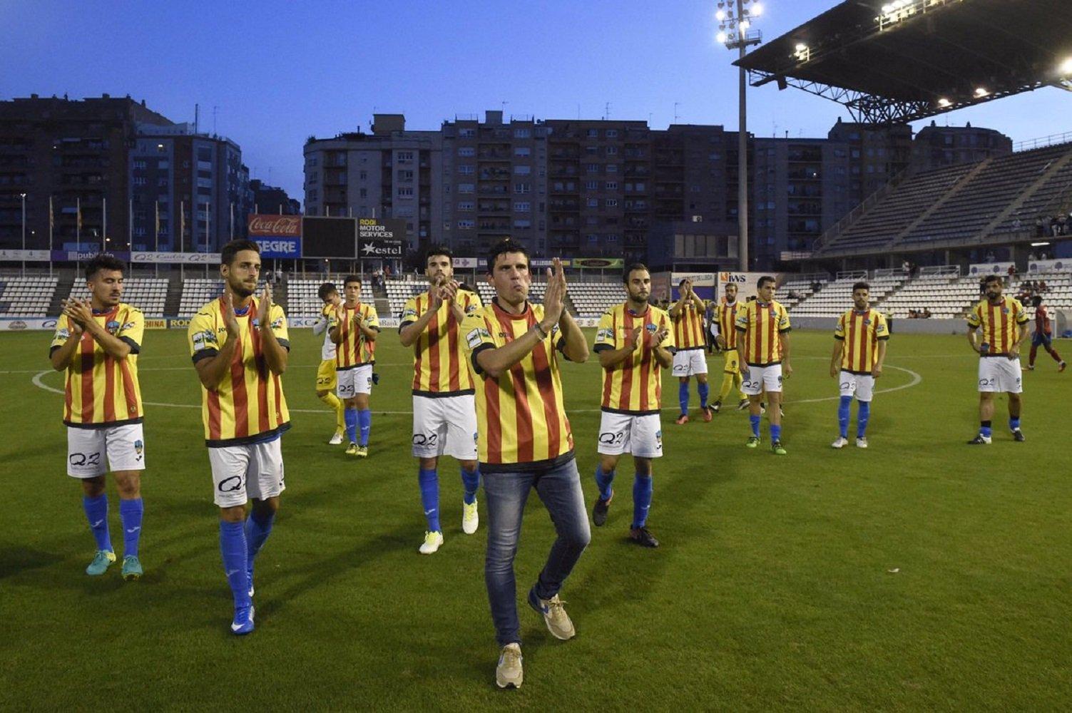 Lleida Esportiu samarreta senyera @Santi__Iglesias