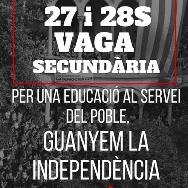 Demà i dijous hi haurà vaga a l'Institut Domènec Perramon per reclamar la celebració del referèndum
