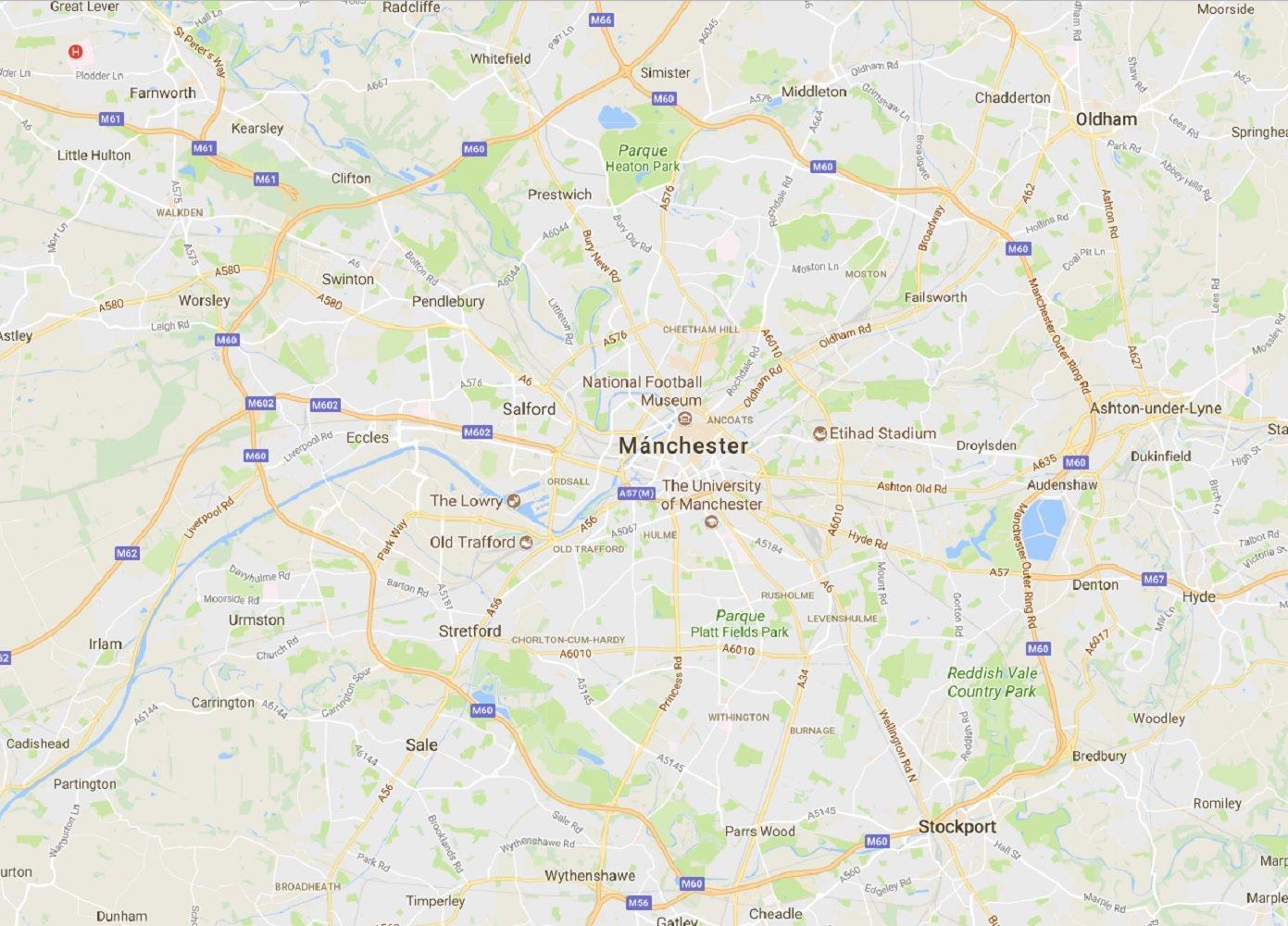 atac manchester google maps