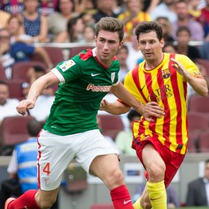 Aymeric Laporte Leo Messi Barça samarreta senyera CC Lluis Fernandez Salas