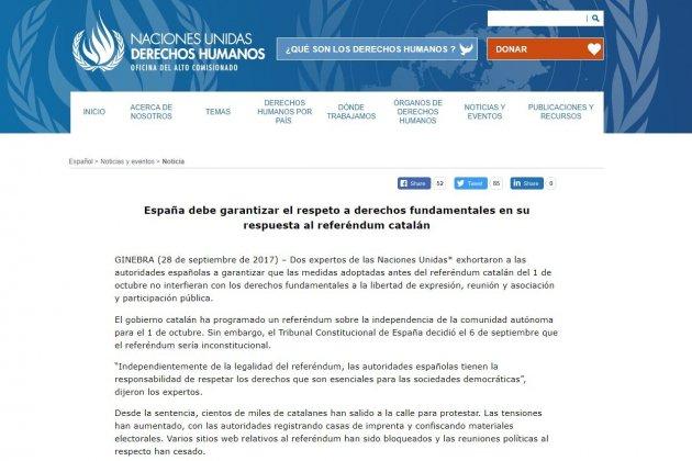 noticia onu catalunya drets fonamentals