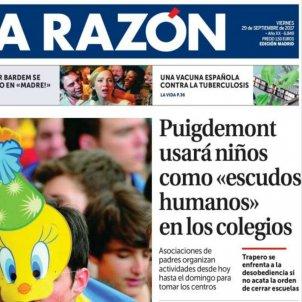 La Razón portada nens / EN