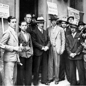 Macià i Companys en un acte electoral a Gràcia. 1931. Font ANC (Fons Josep Maria de Sagarra)