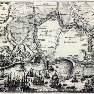 Barcelona. 1697. Plànol de Vendôme.