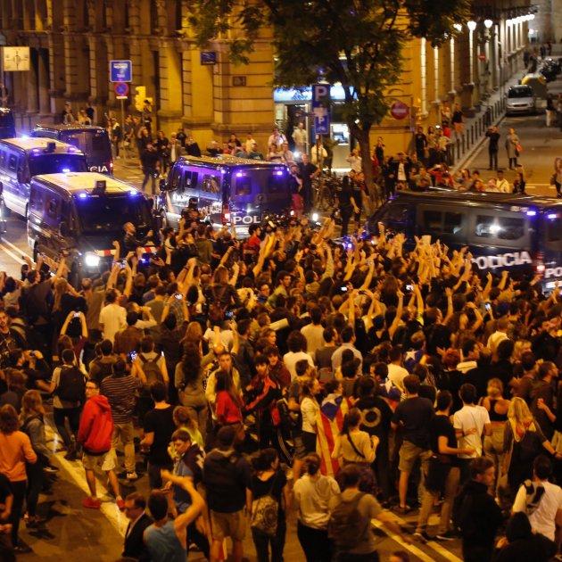 sortida policia nacional via laietana - sergi alcazar