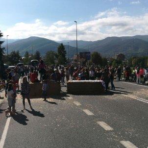 Andorra La Seu carretera tallada