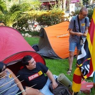 Acampada sindicats ensenyament / CCOO