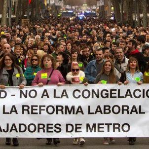 Manifestació-Treballadors Metro-efe