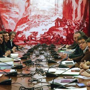 COMIENZA LA REUNIÓN PSOE, PODEMOS, IU Y COMPROMÍS PARA UN PACTO DE IZQUIERDAS