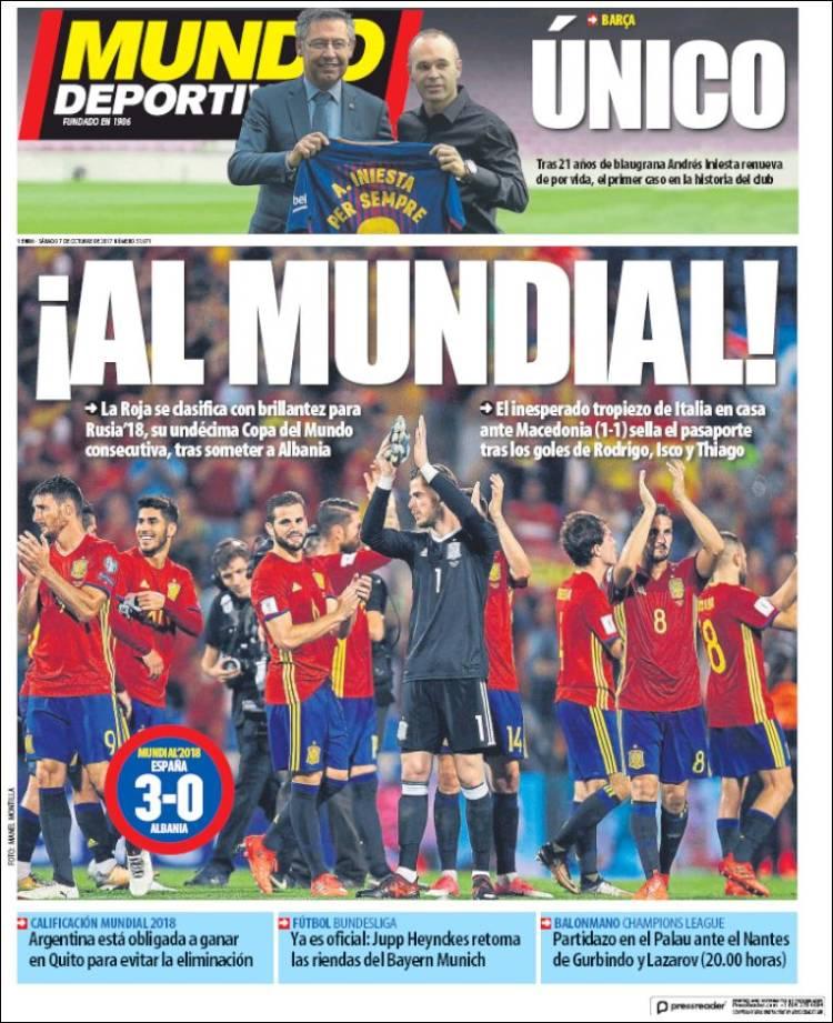 Mundo Deportivo Portada 07 10 2017