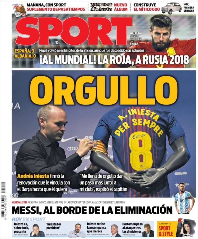 Sport Portada 07 10 2017