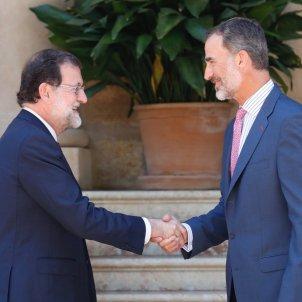 Rajoy i Felipe VI   ACN