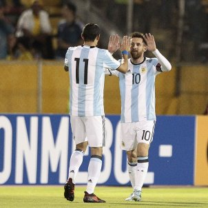Messi Di María Argentina Equador EFE