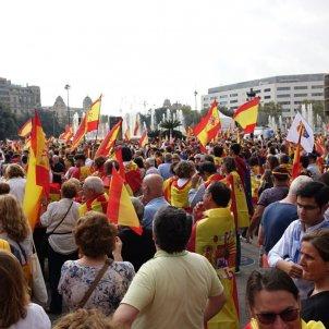 Manifestació unionista 12 O Plaça Catalunya   RL