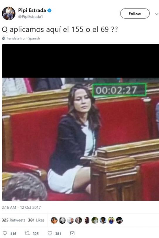 Inés Arrimadas Vista Como Objeto Sexual En Un Tuit Baboso De Pipi