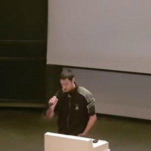 Abel Yuste, discurs a un institut alemany sobre 1-O / EN