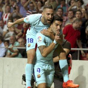 Luis Suarez Jordi Alba celebracio gol Barça Atletic Madrid   EFE