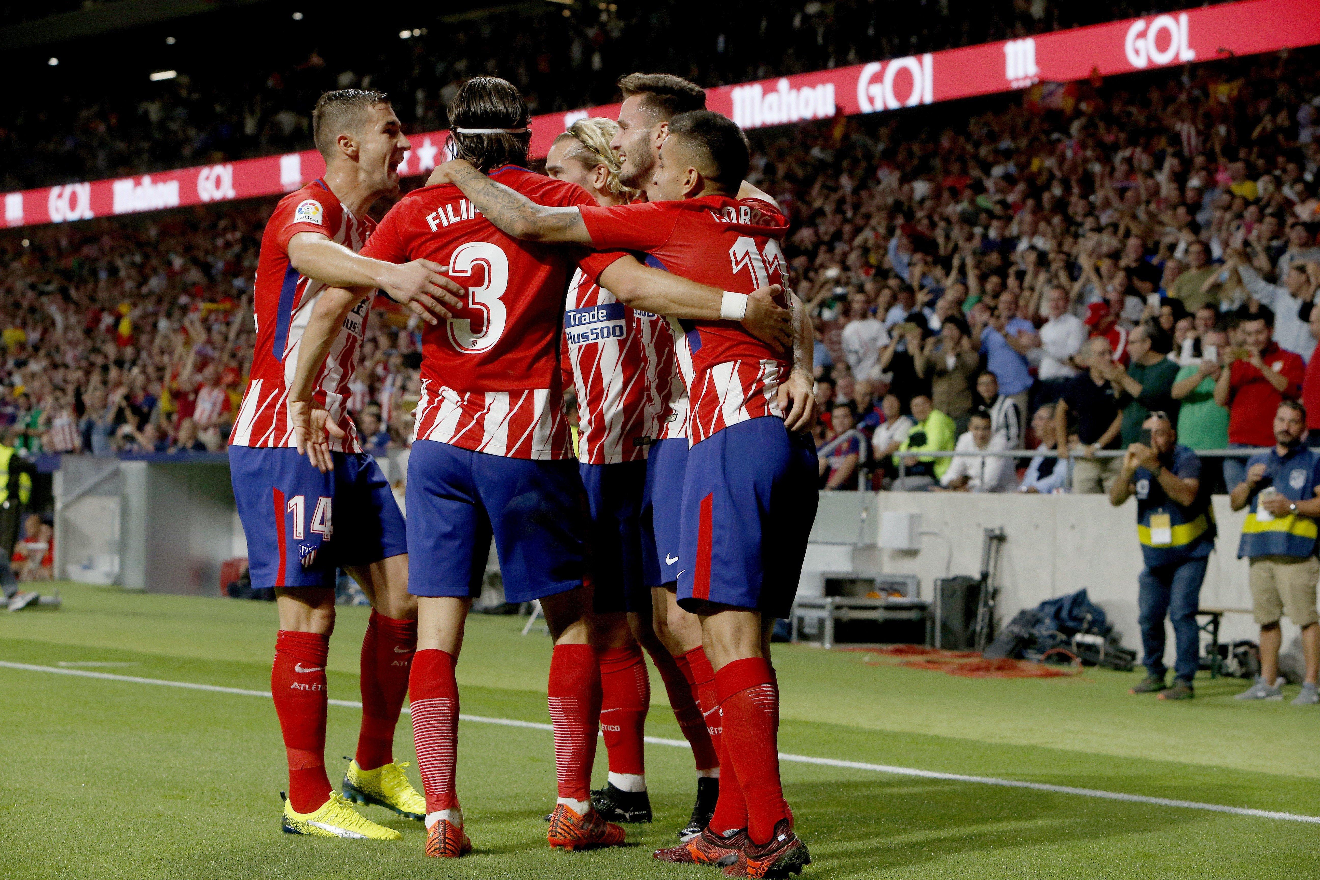 Atlètic de Madrid celebracio gol Barça   EFE